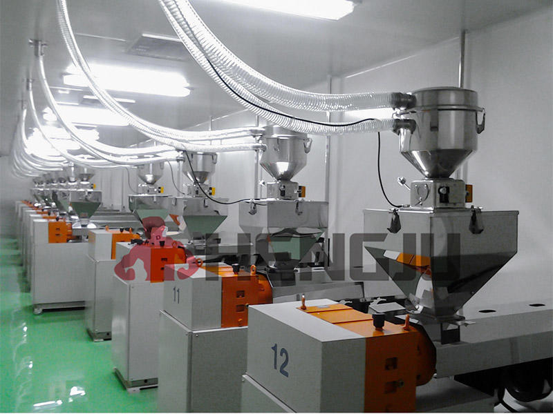 PP sheet extrusion line centralized conveying system