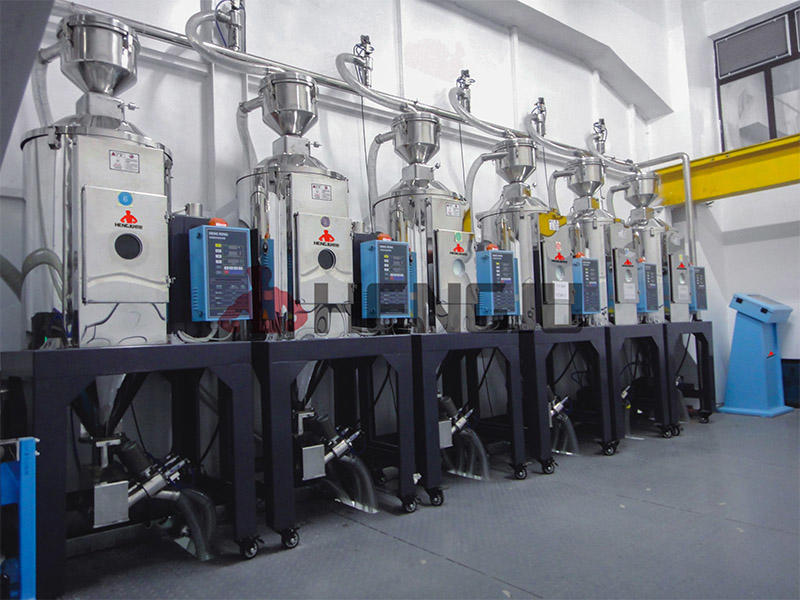 PE granule pelletizing drying system